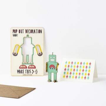 Pop Out Robot Card