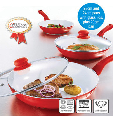 ECOCHEF 5-piece Ceramic Pan Set - healthier food the whole family will love.