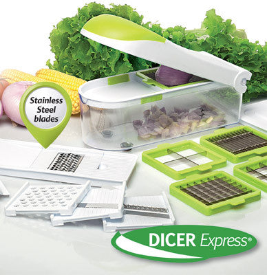 Dicer Express - chop and slice to perfection … within seconds!