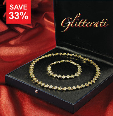 Look and feel dazzling with this Glitterati Jewellery Set