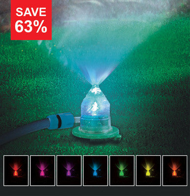 Magic Mist Sprinkler - Create a magical kaleidoscope of colour in your garden!