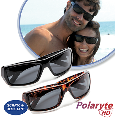 Protect your eyes this summer with Polaryte HD Sunglasses and VizClear HD 2-in-1 Car Visor
