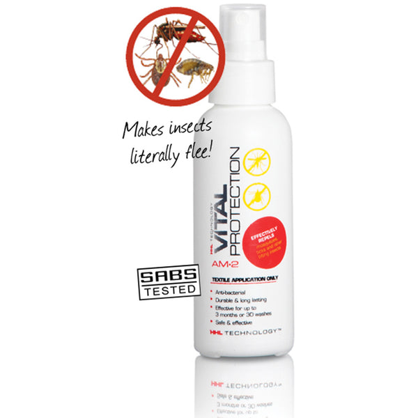 Vital Protection Fabric Spray makes all insects literally flee!