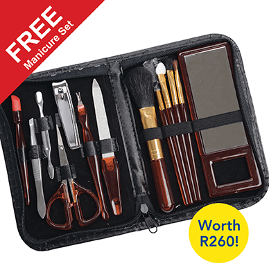 Buy 1 Wizzit Titanium Hair Remover and get a second one FREE... plus receive a FREE manicure set valued at R260!