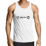 Eat Sleep Reef Repeat- Mens Singlet (free shipping)