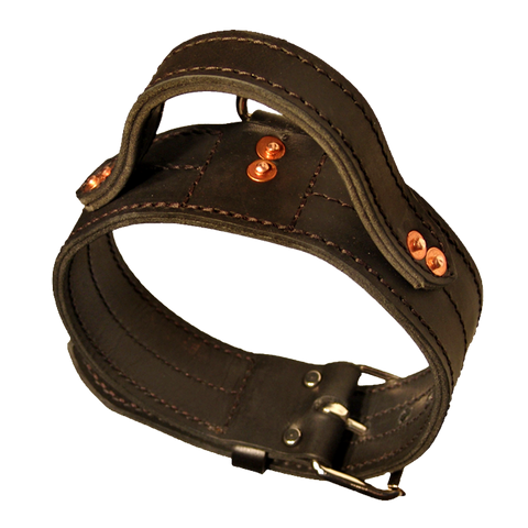Heavy Leather Collar With Handle