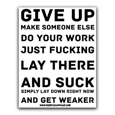 Motivation demotivation print