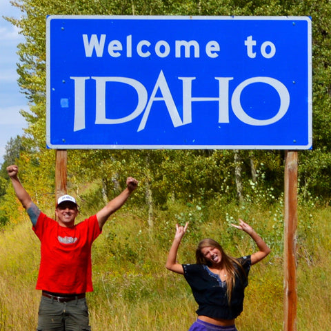 My daughter and I arriving in Idaho