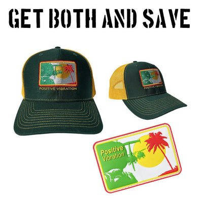 Bundle - Little Bird Positive Vibrations Hat + Patch
