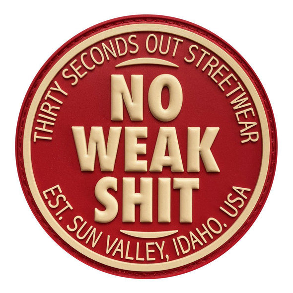 Morale Patch - No Weak Shit Streetwear