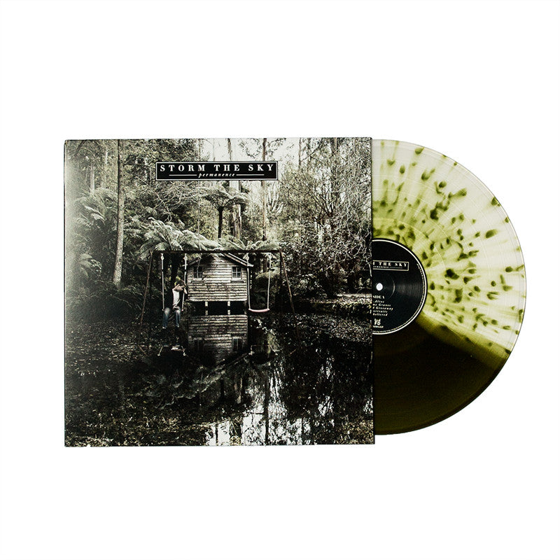 "Storm The Sky Official Merch - Permanence - (12"" Half Swamp Green Splatter Vinyl) (418140243)"