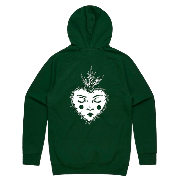 Heart Hoodie (Forest Green)
