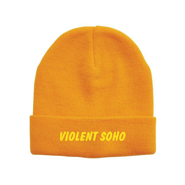 Embroidered Logo Beanie (Orange)