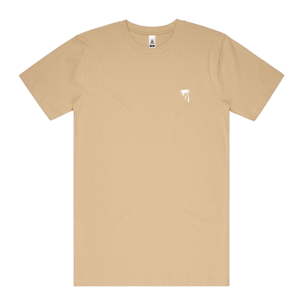 Palm Embroidered Tee (Tan)