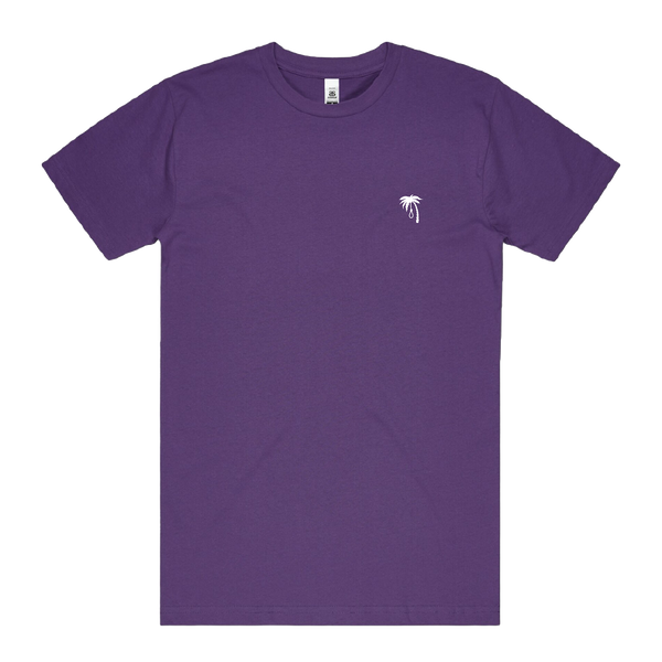 Palm Embroidered Tee (Purple)
