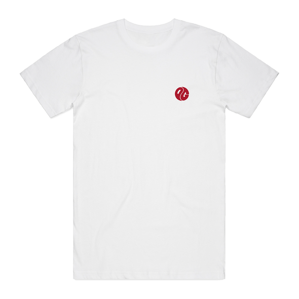Embroidered Logo Tee (Red/White)