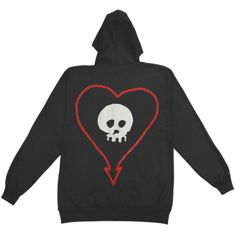 Classic Heartskull Zip Up Hoodie (Black)