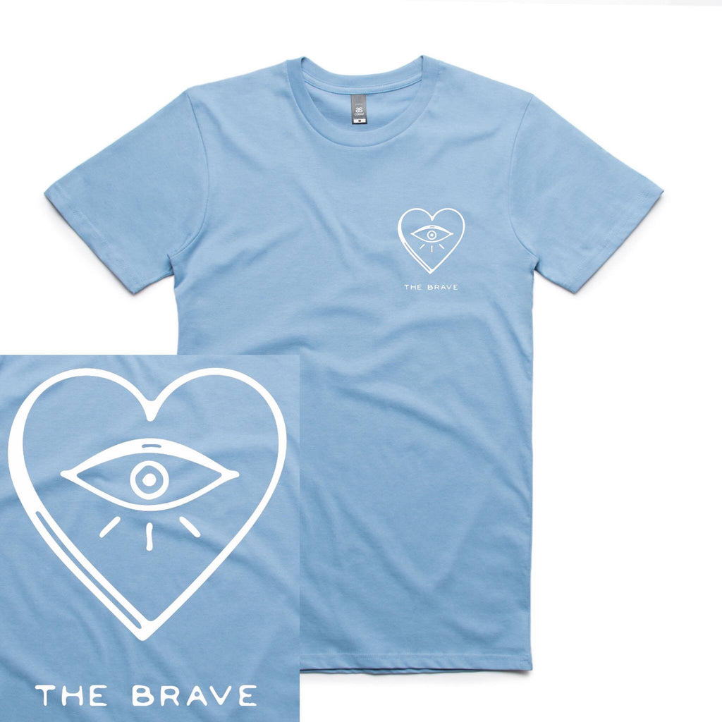 The Brave merch Eye Heart Tee (Blue)