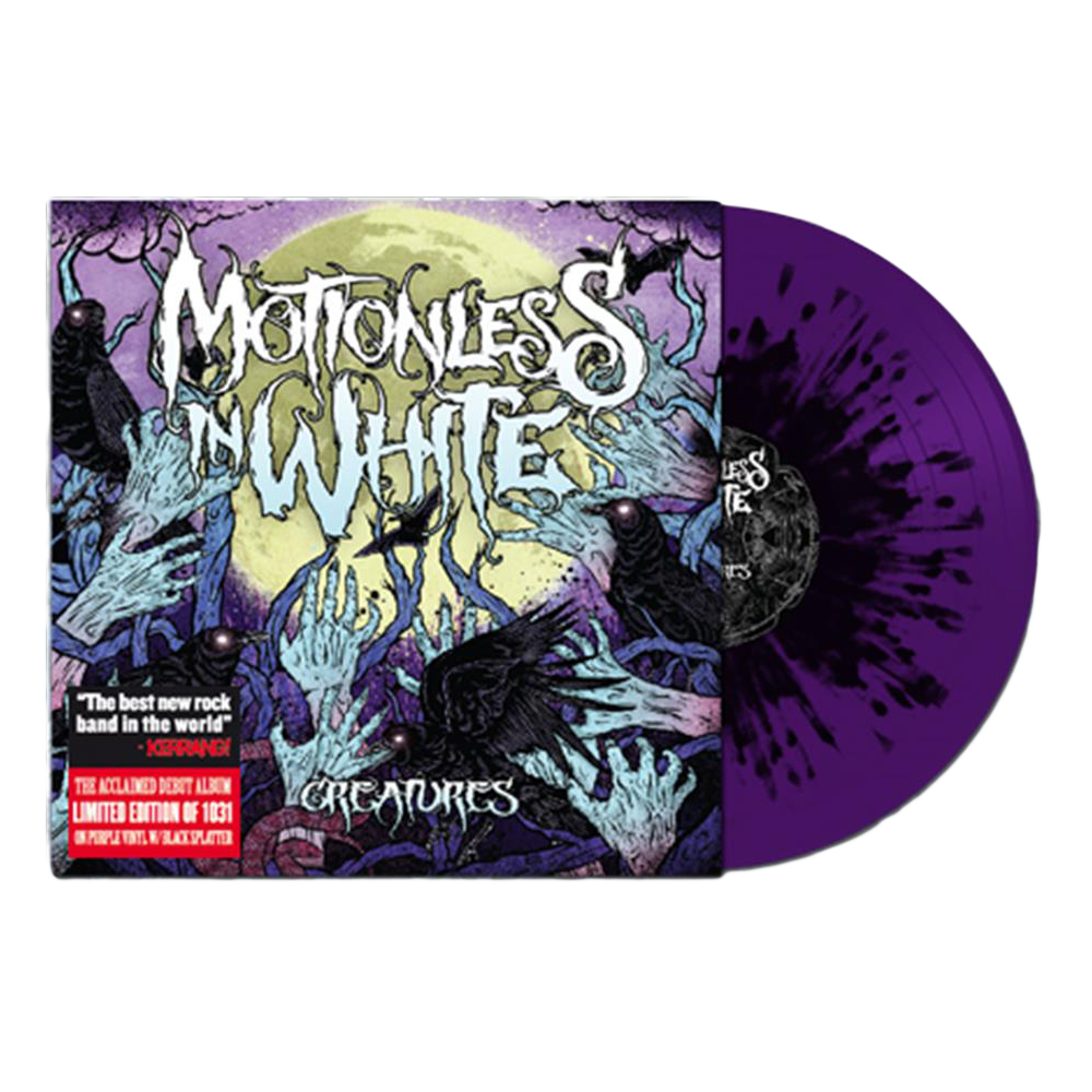 "Creatures 12"" Vinyl (Grimace Purple with Black Splatter)"