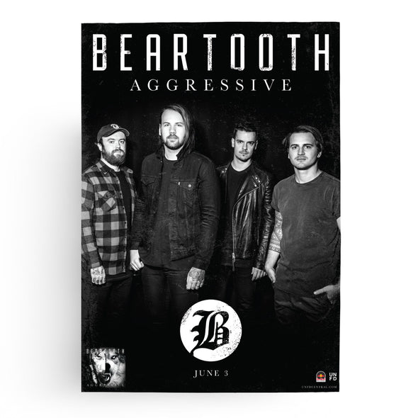 Beartooth Official Merch - Aggressive (A2 Poster)