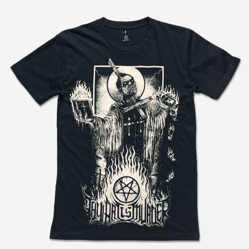 Thy Art Is Murder Official Merch - Burning Priest (Black Tee)