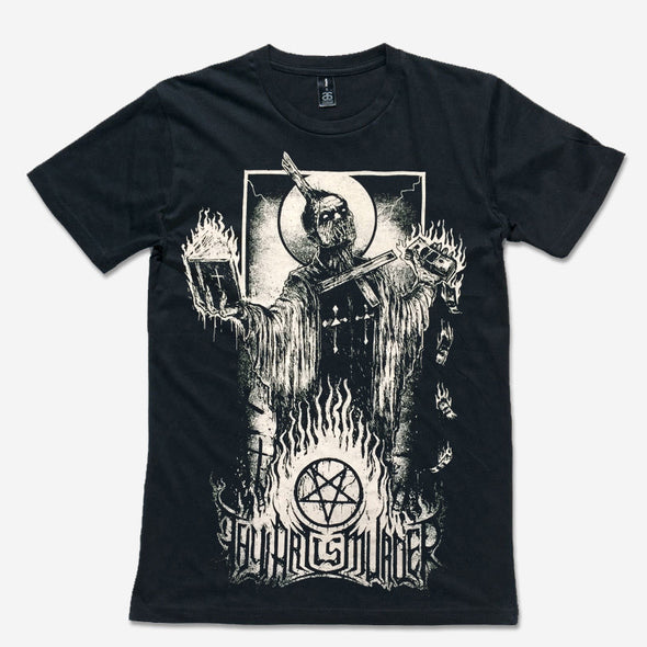 Thy Art Is Murder Official Merch - Burning Priest (Black Tee) (457568295)
