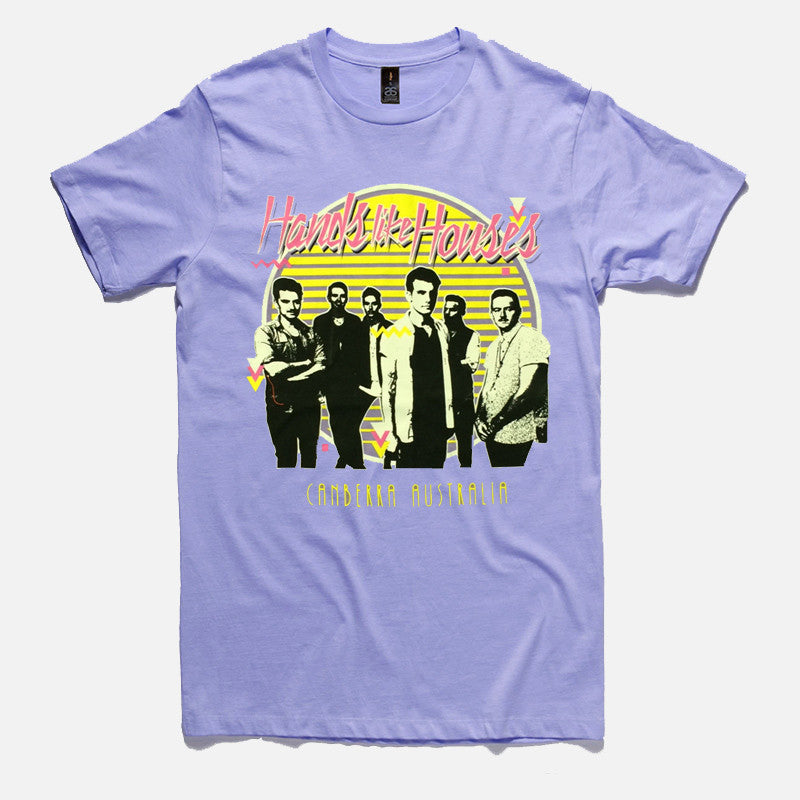 Hands Like Houses Official Merch - Retro (Light Purple Tee) (425974215)