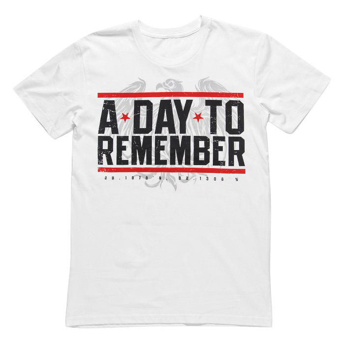 A Day To Remember Official Merch - Hardcore (White Tee)