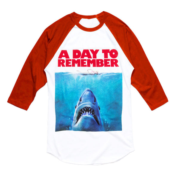 Shark (White/Red Raglan)