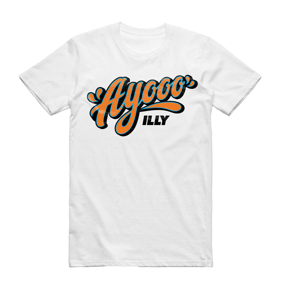 Illy Official Merch - Ayooo Tee (White)