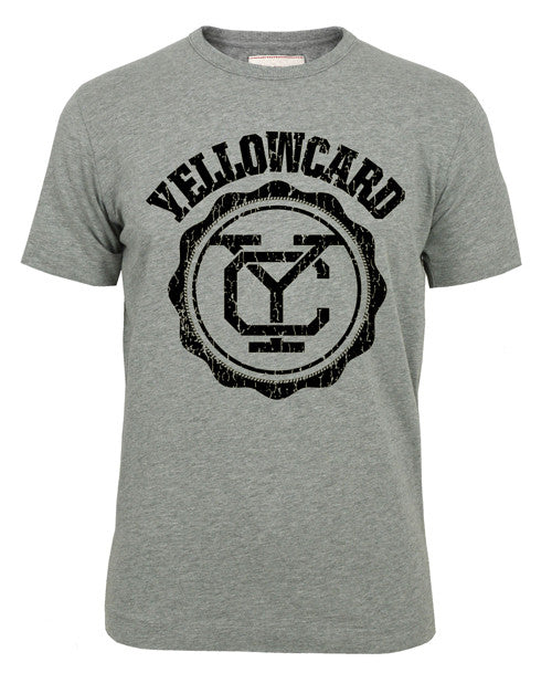 Yellowcard Official Merch - Logo Tee (Grey Marle)