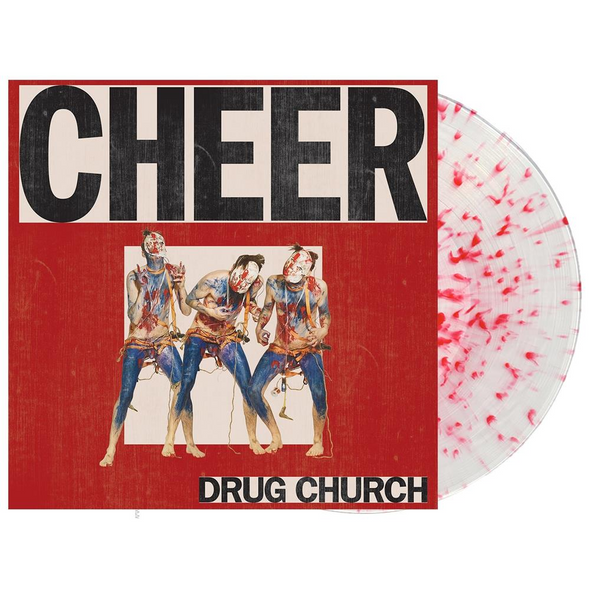"Cheer 12"" Vinyl (Ultra Clear w/ Heavy Red Splatter)"