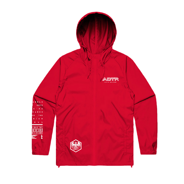 You're Welcome Zip Up Windbreaker (Red) // PREORDER