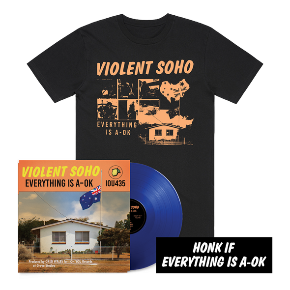 Everything is A-OK Vinyl + Tee Bundle