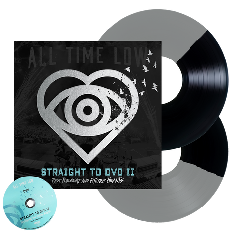 Straight To DVD II: Past, Present and Future Hearts 2LP + DVD (Black + Silver Half Half)