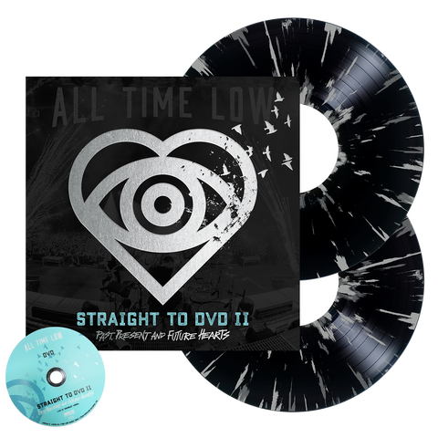 Straight To DVD II: Past, Present and Future Hearts 2LP + DVD (Black w/ Silver Splatter)