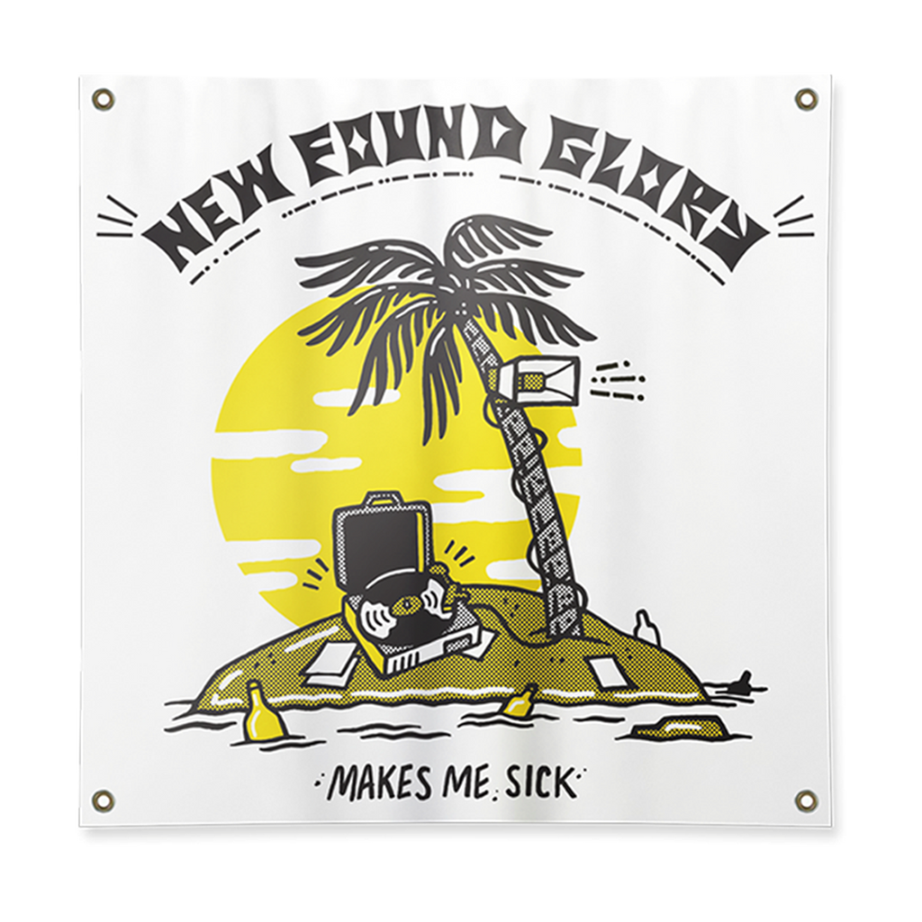 New Found Glory Official Merch - Makes Me Sick Flag