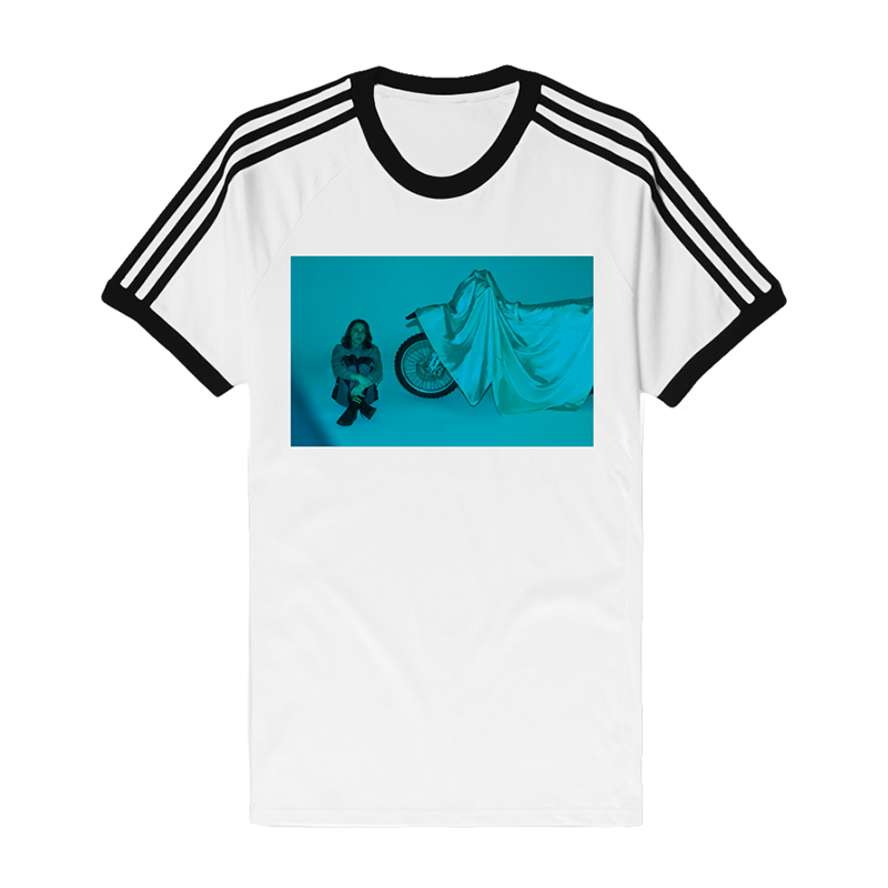Speeding Three Stripe Tee (White) + Digital Download