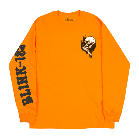 Whispering Skull Longsleeve (Safety Orange)