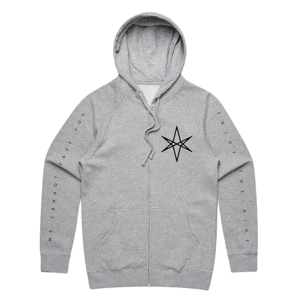 Parasite Eve Zip-Up Hoodie (Grey Marle)