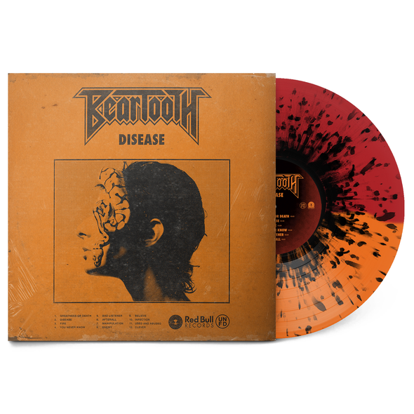 "Disease 12"" Vinyl (Half Red/Half Orange w/ Black Splatter)"