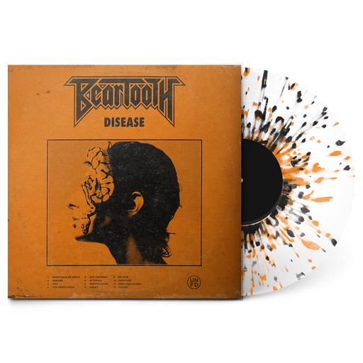"Disease 12"" Vinyl (Ultra Clear w/ Black and Orange Splatter) // PREORDER"
