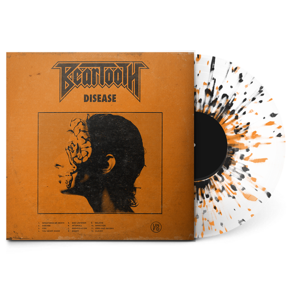 "Disease 12"" Vinyl (Ultra Clear w/ Black and Orange Splatter)"
