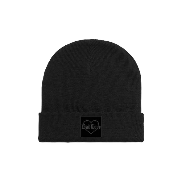 Barbed Wire Heart Beanie (Black)