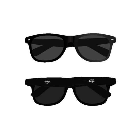 Barbed Wire Heart Sunglasses (Black) // PREORDER
