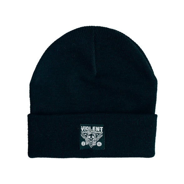 Blazin' Skull Patch Beanie (Black)