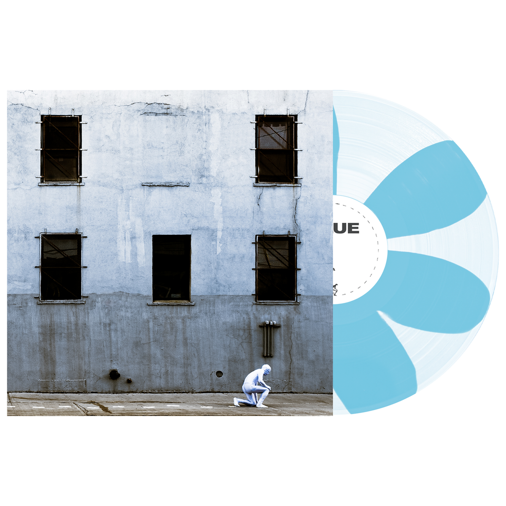 "GLUE 12"" Vinyl (Clear and Baby Blue Pinwheel) // PREORDER"