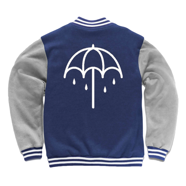 Umbrella Varsity Jacket (Oxford Navy/Heather Grey)