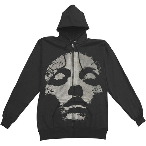 Jane Doe Zip Up Hoodie (Silver on Black)