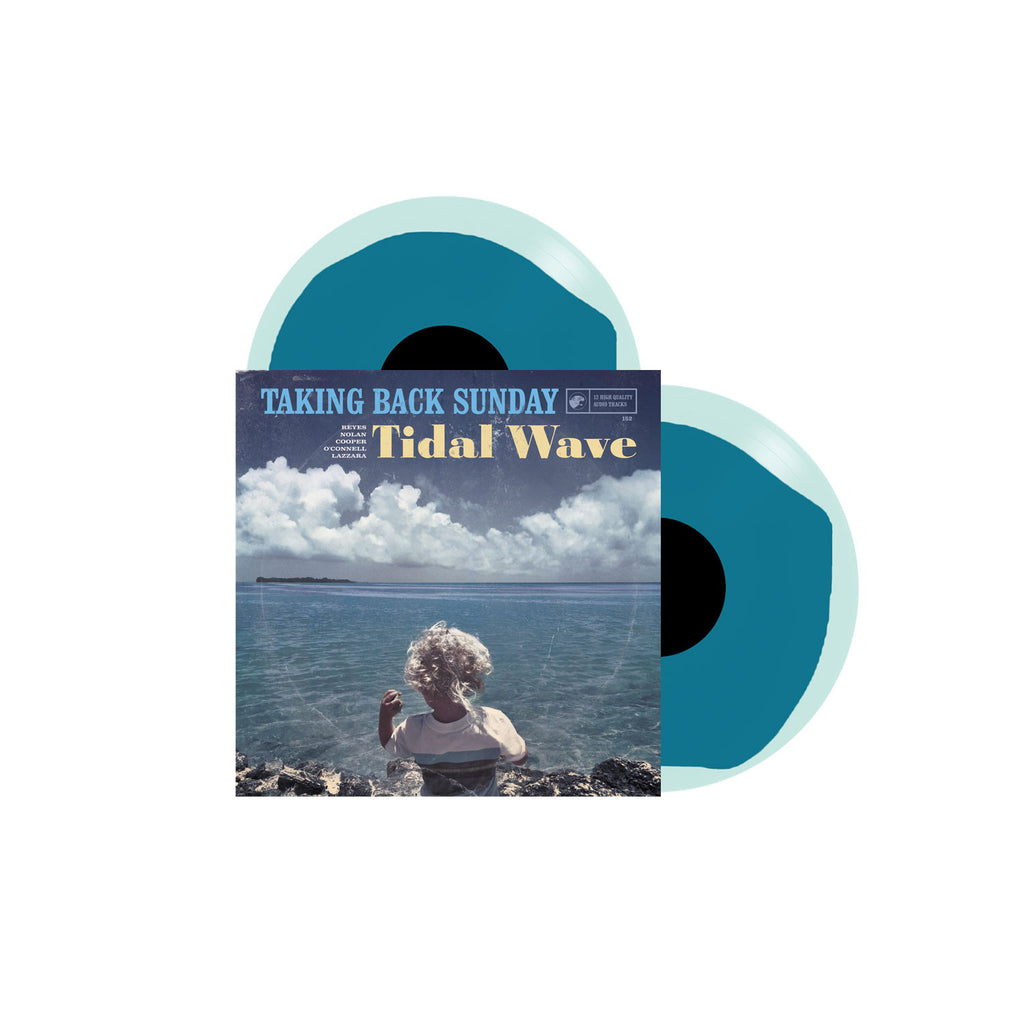 "Taking Back Sunday Official Merch - Tidal Wave (12"" Turquoise Swirl)"